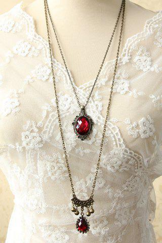 Gothic Chic Women s Beads Drop Pendant Layered Sweater Chain Necklace $4.27 AT vintagedancer.com