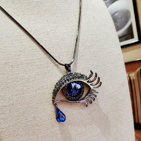 Sale Rhinestone Eye Shape Design Sweater Chain - COLORMIX  Mobile