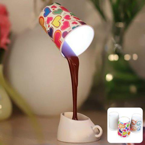 Sale Pouring Coffee Style DIY LED Table Lamp Night Light Home Romantic Decoration