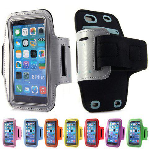 Dual Holes Sports Soft Tactility Durable Armband Holder Pouch Lycra Protective Case for iPhone 6 Plus - 5.5 inches от Rosegal.com INT