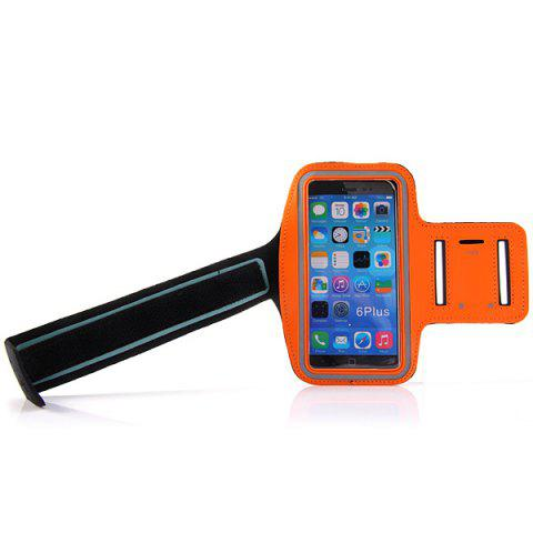 Hot Dual Holes Sports Soft Tactility Durable Armband Holder Pouch Lycra Protective Case for iPhone 6 Plus - 5.5 inches