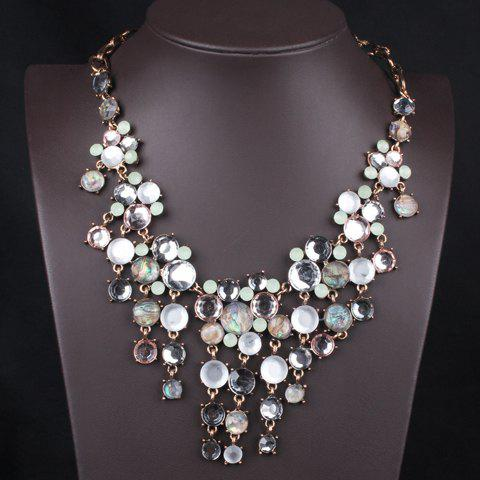 New Statement Drop Beads Embellished Pendant Necklace