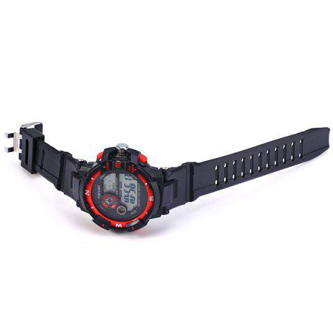 Sale Xinjie 931 LED Military Watch Light Week Alarm Round Dial for Sports - ORANGE  Mobile