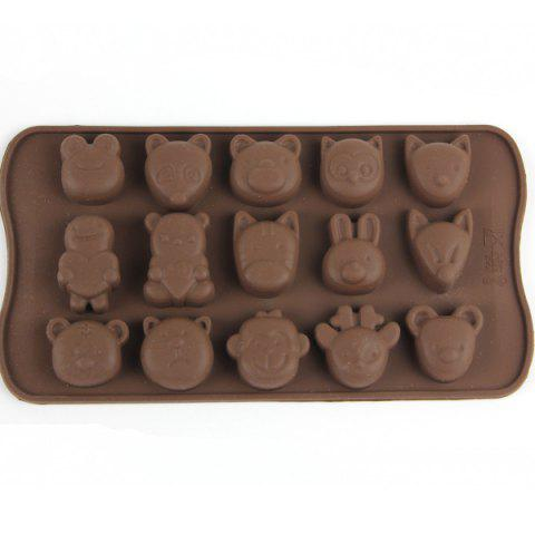 Discount 15 Ice Grids Lovely Animals Style Chocolate Pudding Ice Cube Tray