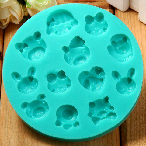 Cake Decorating Sugar Animals : Green Animal Style Silicone Embossing Fondant Decoration ...