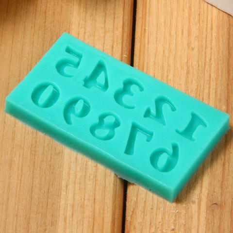 Buy Arabic Numerals Style Silicone Embossing Fondant Decoration Mould Cake Decorating Sugar Arts Mold