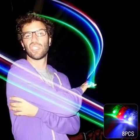 Outfit 8pcs Laser Finger LED Magic Beams Ring Light for Party Creative Toy