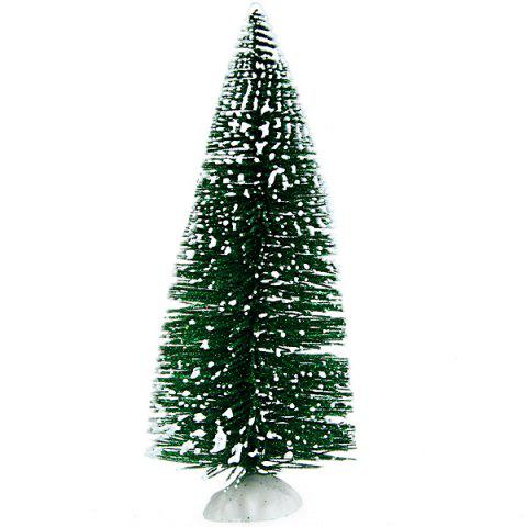 Shops Mini Plastic Desktop Christmas Tree Xmas Decoration Supplies for Festival Gift - GREEN  Mobile
