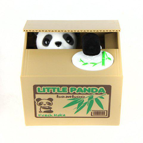 Online 11.5CM Itazura Coin Bank Panda Saving Pot Coin Bank for Coin Collection BROWN