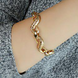 Rock Snake Link Design Bracelet - COLOR ASSORTED
