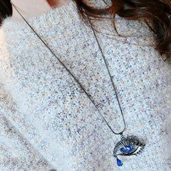 Rhinestone Eye Shape Design Sweater Chain -