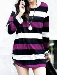 Casual Round Neck Long Sleeve Striped Maternity Women's T-Shirt -