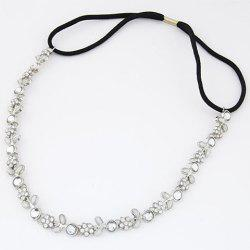 Chic Diamante Floral Pattern Hairband For Women - SILVER