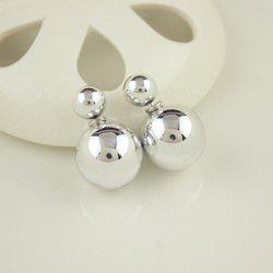Pair of Ball Beads Stud Earrings