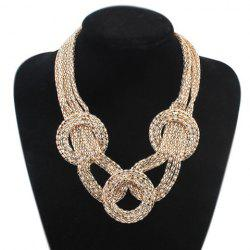 Statement Round Gold Plated Necklace