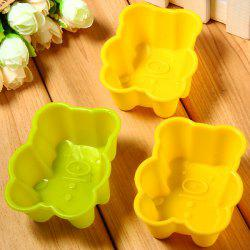 3pcs Bear Style Silicone Embossing Fondant Decoration Mould Cake Decorating Sugar Arts Mold -