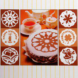 6pcs / Pack Cake Stencil Template Mould Birthday Cake Decoration