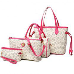 Geo Print Handbag 4Pc Set -