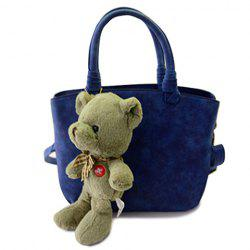 Trendy Solid Color and Bear Pendant Design Women's Tote Bag -