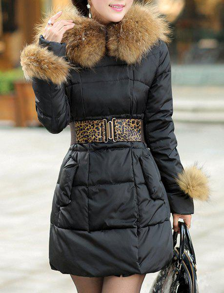 Trendy Stylish Hooded Solid Color Black Coat For Women