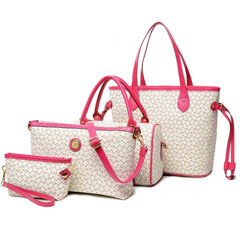 Shops Geo Print Handbag 4Pc Set