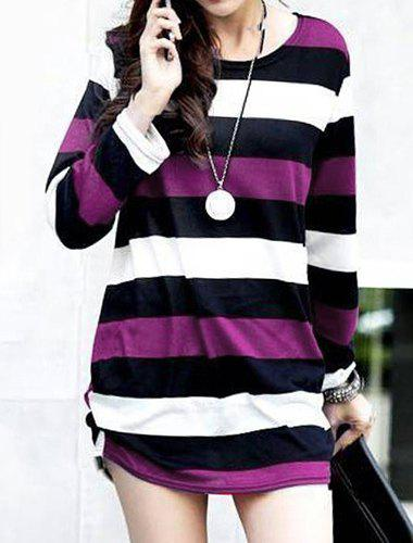 Buy Casual Round Neck Long Sleeve Striped Maternity Women's T-Shirt