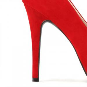 Graceful Suede and Stiletto Heel Design Women's Pumps -