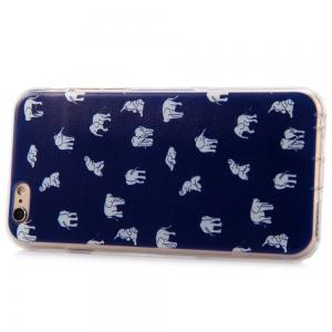 Elephant Design Protective Back Cover Case with TPU Material for iPhone 6 - 4.7 inches -