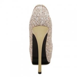 Stunning Sexy High Heel and Sequined Design Women's Pumps -