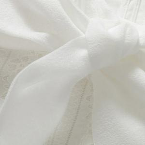 Vintage Bow Collar Long Sleeves White Blouse For Women -