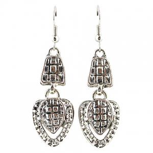A Suit of Vintage Rhinestone Drip Pendant Necklace and Earrings -