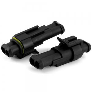 JHRH40 2 Pin Way Waterproof Electrical Wire Connector - 5 Sets -