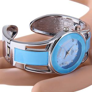 Xinhua 681 Bracelet Style Quartz Watch with Rhinestone Dial Stainless Steel Band for Women - NAVY BLUE