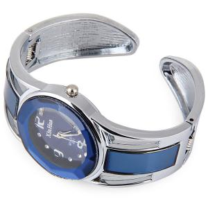 Xinhua 681 Bracelet Style Quartz Watch with Rhinestone Dial Stainless Steel Band for Women -