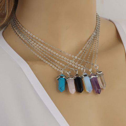 ONE PIECE Chic Women's Diamond Shape Pendant Decorated Necklace