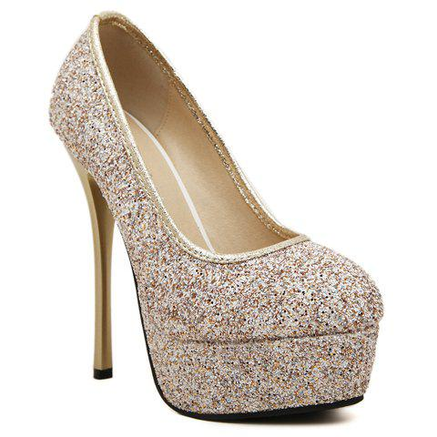 Trendy Stunning Sexy High Heel and Sequined Design Women's Pumps