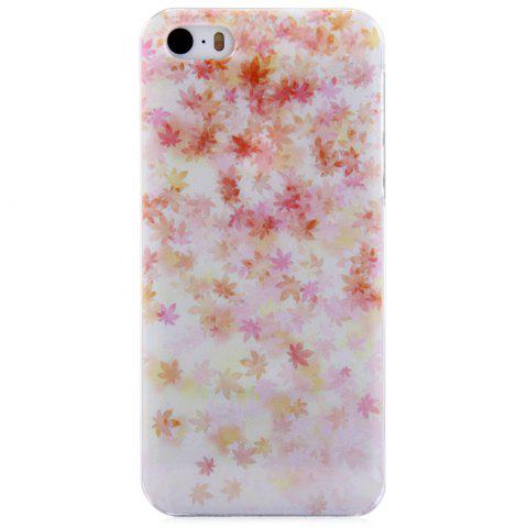 Outfits Maple Design Protective Back Cover Case with Transparent Frame for iPhone SE / 5 / 5S
