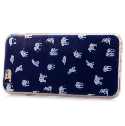 Discount Elephant Design Protective Back Cover Case with TPU Material for iPhone 6 - 4.7 inches - BLUE  Mobile