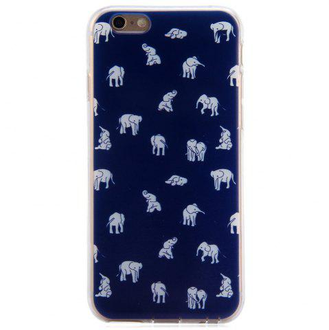 Hot Elephant Design Protective Back Cover Case with TPU Material for iPhone 6 - 4.7 inches - BLUE  Mobile