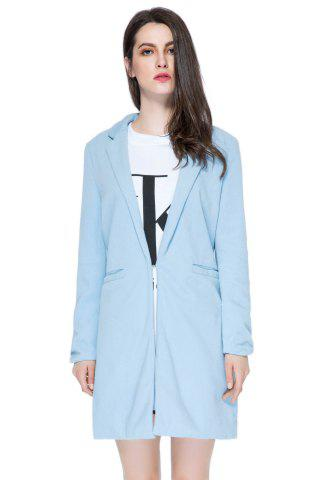 Affordable Simple Style Long Sleeve Stand Collar Solid Color Worsted Women's Coat