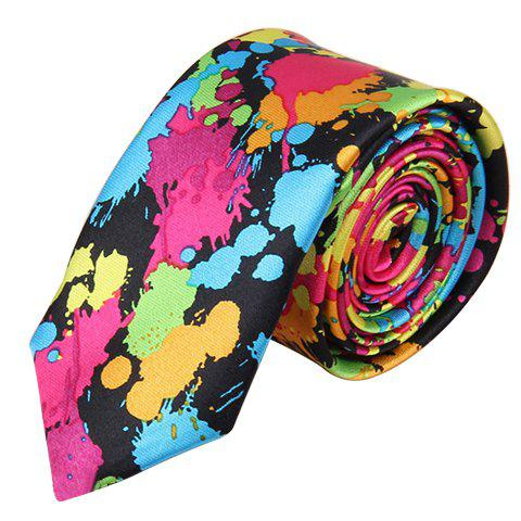 Cheap Chic 5 CM Wide Design Random Spray-Painted Pattern Tie For Men COLORFUL