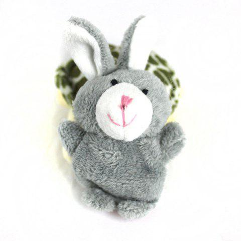 Online 2Pcs Cute Doll Design Plush Toy Finger Puppets Telling Story Doll Props Rabbit + Turtle - AS THE PICTURE  Mobile
