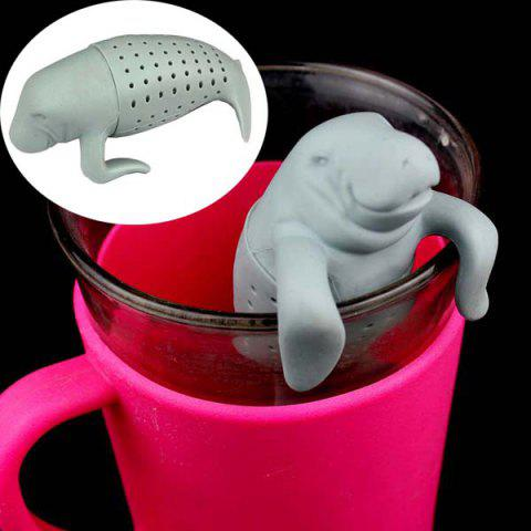 Trendy Creative Seal Shape Tea Strainer Filter Silicone Teabags Household Gadget