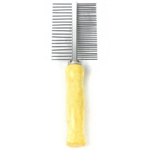 Double Sided Pet Hair Comb with Handle