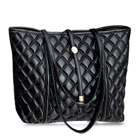 Buy Trendy Black and Checked Design Women's Shoulder Bag