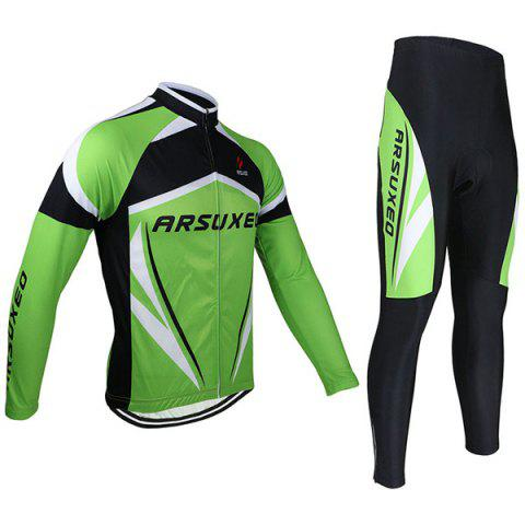 Online Arsuxeo ZLS06V Cycling Suits Jersey Jacket Pants Set Bike Bicycle Running Long Sleeve Clothes for Male -   Mobile