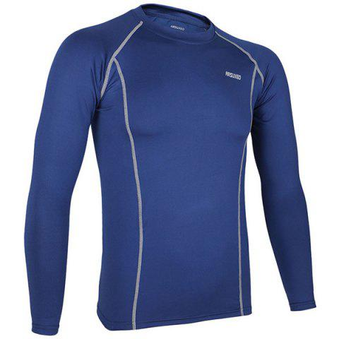 Affordable Arsuxeo C19 Soft Cycling Jersey Bike Bicycle Racing Running Long Sleeve Clothes for Male -   Mobile