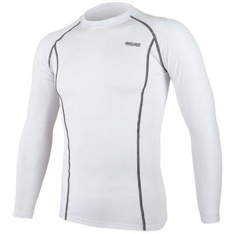 Outfit Arsuxeo C19 Soft Cycling Jersey Bike Bicycle Racing Running Long Sleeve Clothes for Male -   Mobile
