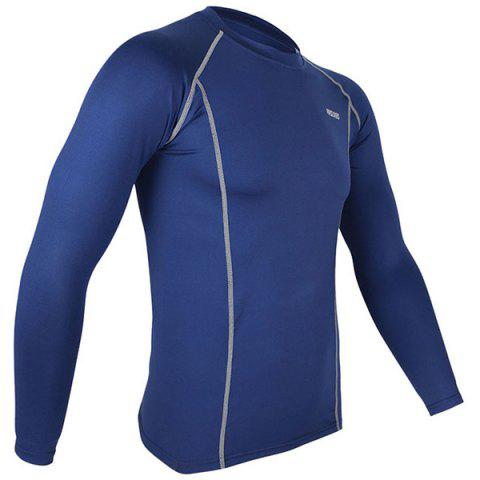 Buy Arsuxeo C19 Soft Cycling Jersey Bike Bicycle Racing Running Long Sleeve Clothes for Male -   Mobile