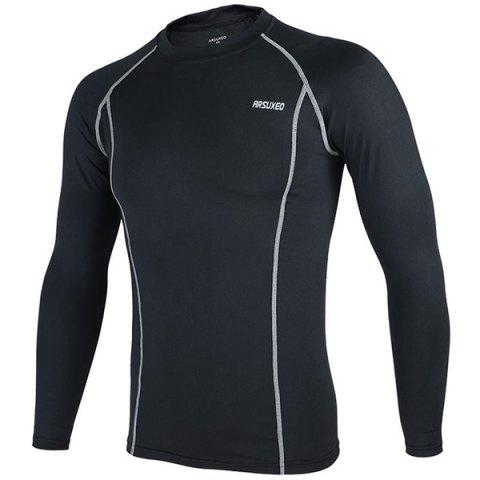 Fashion Arsuxeo C19 Soft Cycling Jersey Bike Bicycle Racing Running Long Sleeve Clothes for Male -   Mobile